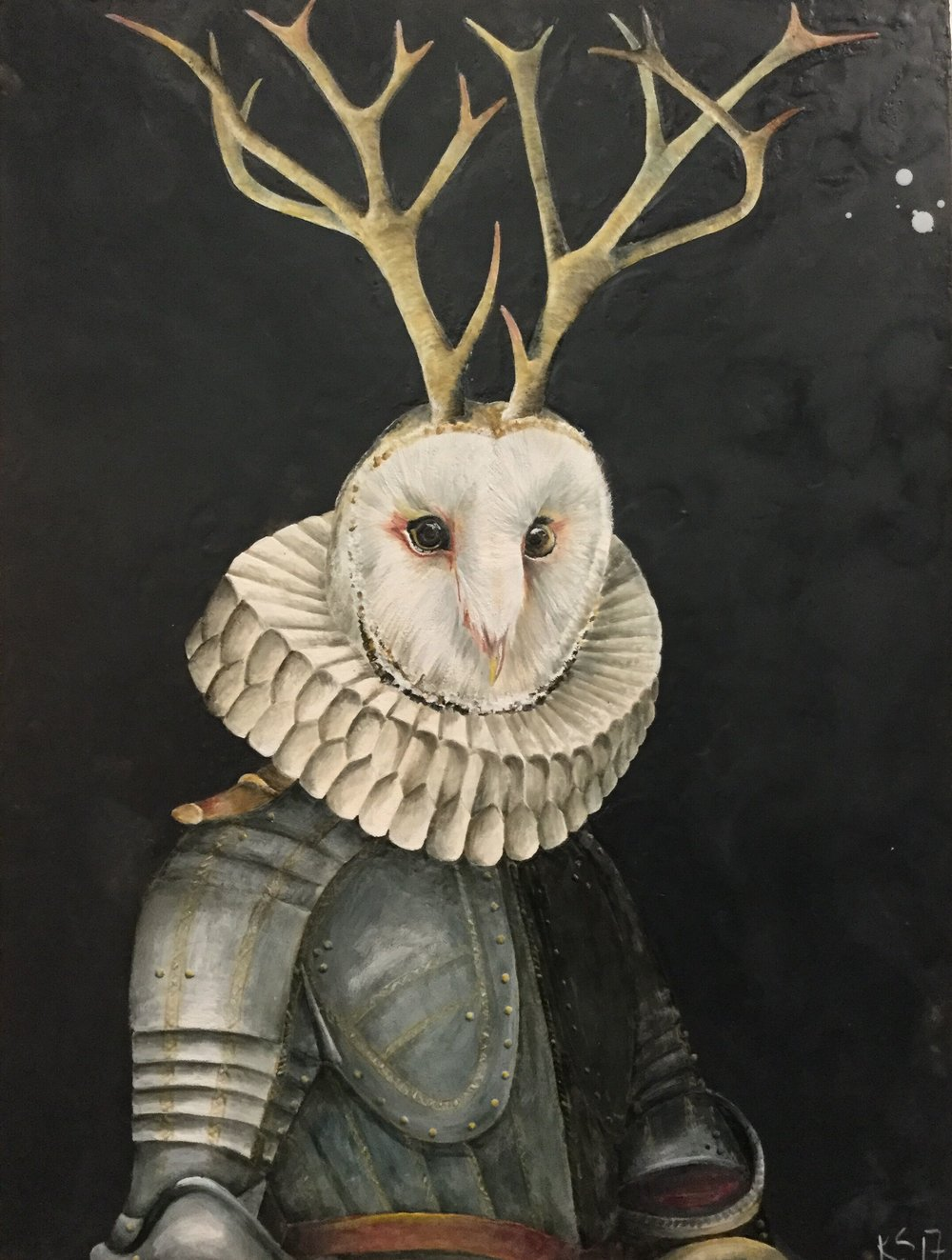 The Knight of Owl 2017 30x40 SOLD
