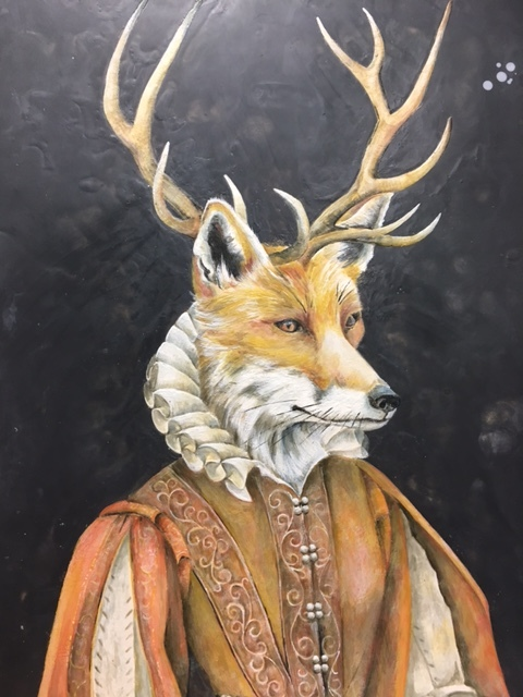 The Antlered Vixen 2017 30x40 SOLD