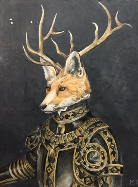 The Armored Fox 2017 30x40 SOLD