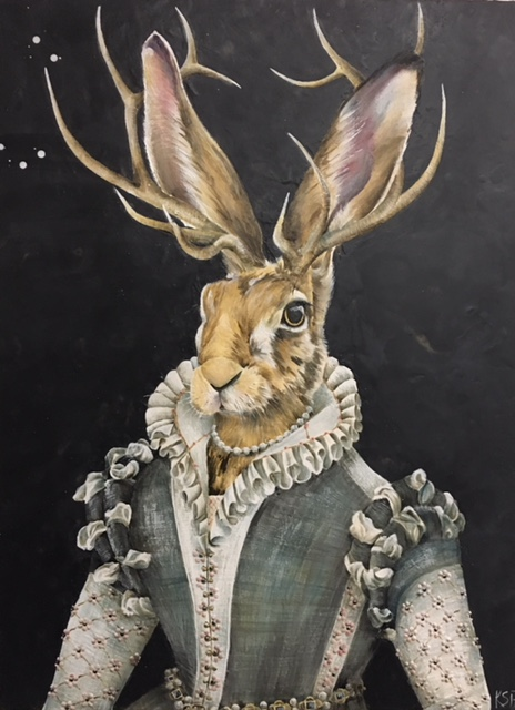 The Ruffled Rabbit 2017 36x48 SOLD
