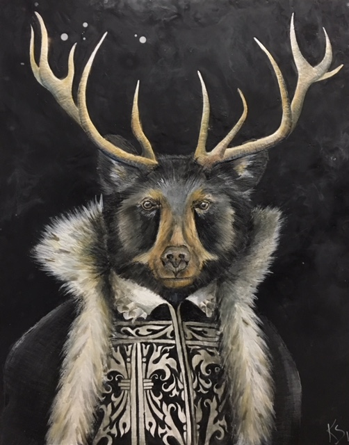 Antlered & Ermined 2018 24x30 SOLD