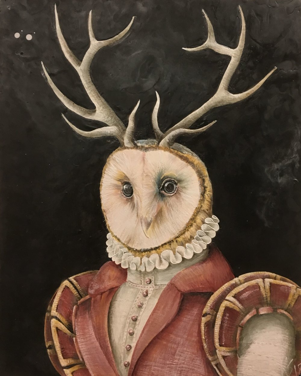 How Now Wise Owl 2018 24x30 SOLD
