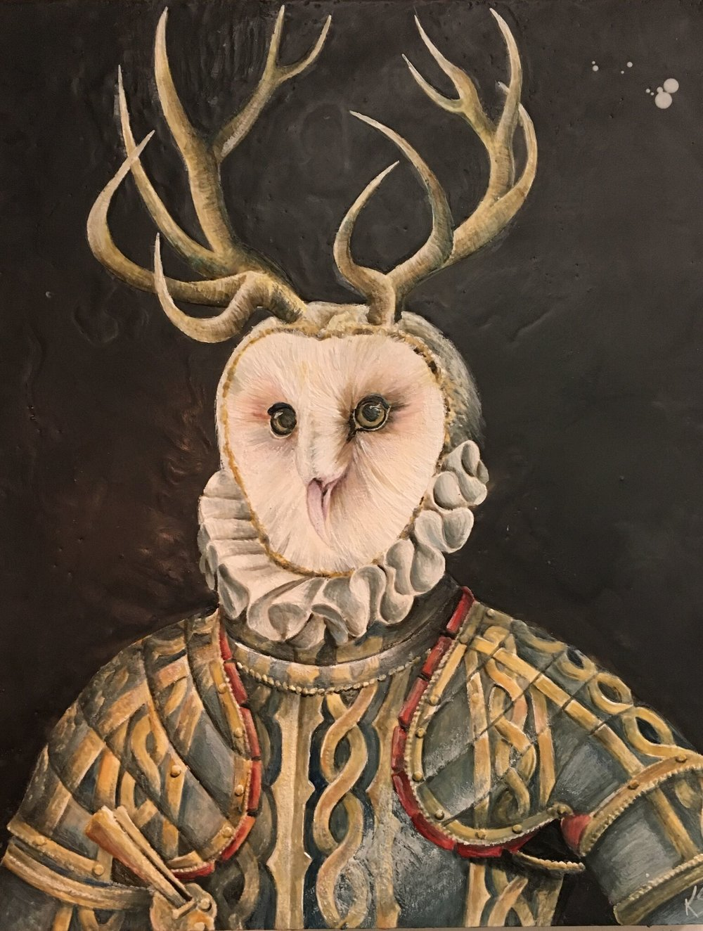 The Owl Of Knight 2017 24x30 SOLD