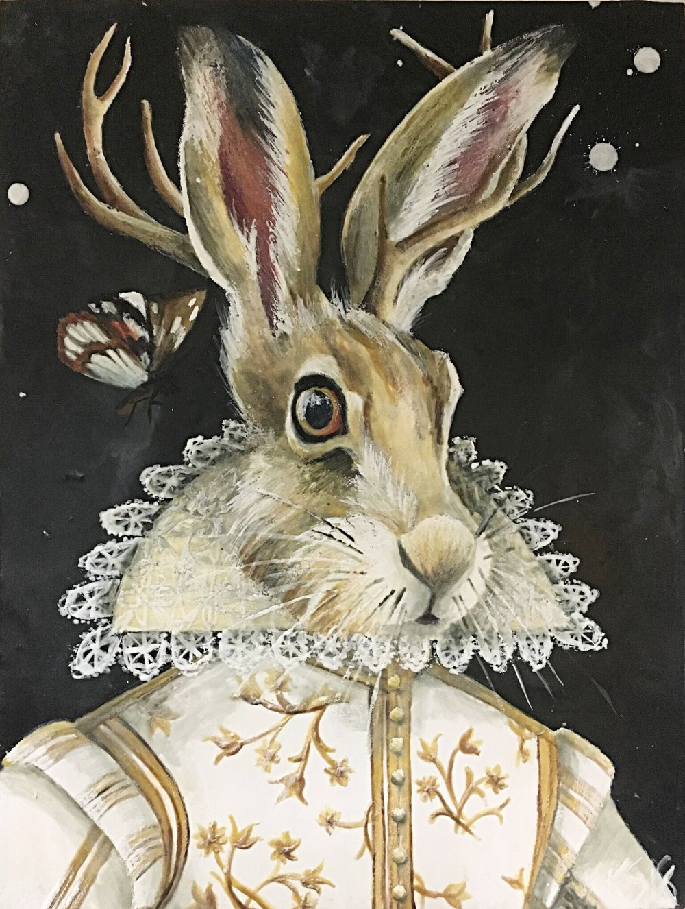 "The Harvest Hare 2018 12""x 16"" SOLD"