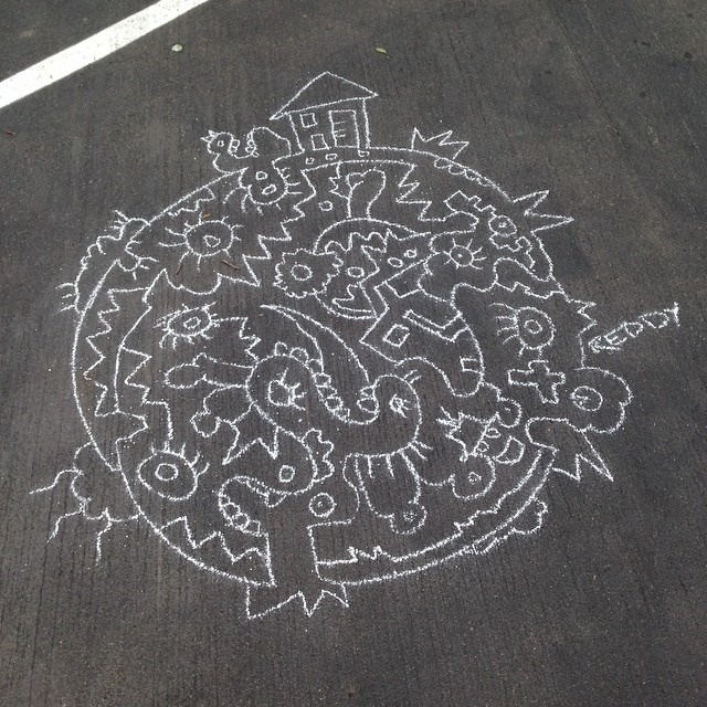 Chalk on Parking Santa Monica.jpg