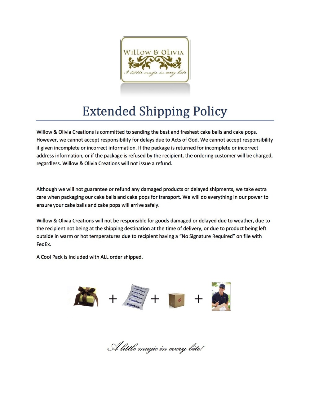 Extended Shipping Info