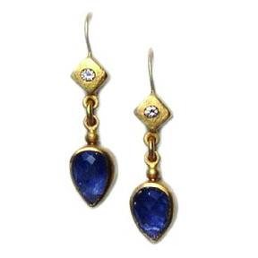 20K Gold , Diamond & Blue Sapphire
