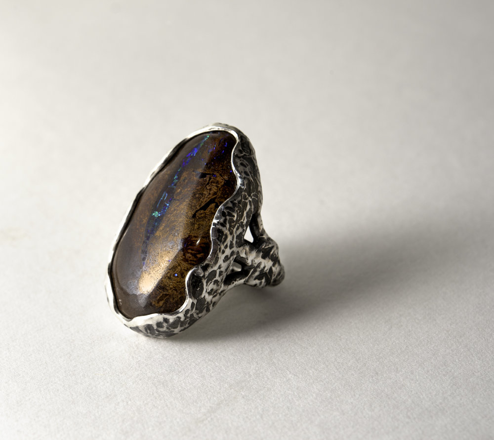Sterling Silver Yawah Opal Ring