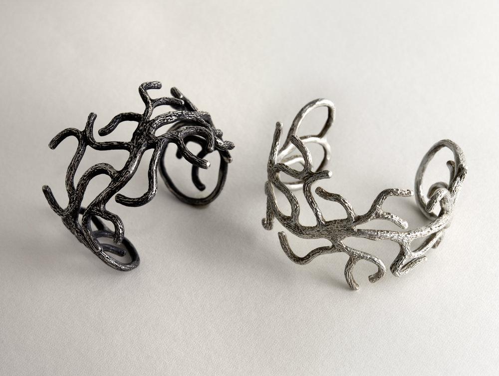 Sterling Silver Branch Bracelet