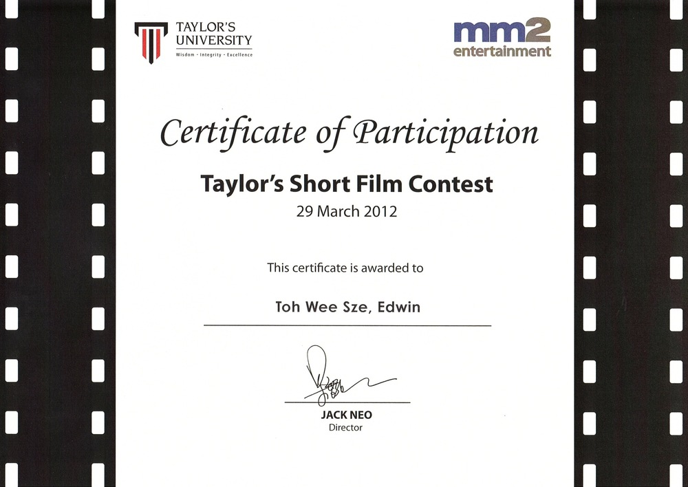 Taylor's Short Film Contest