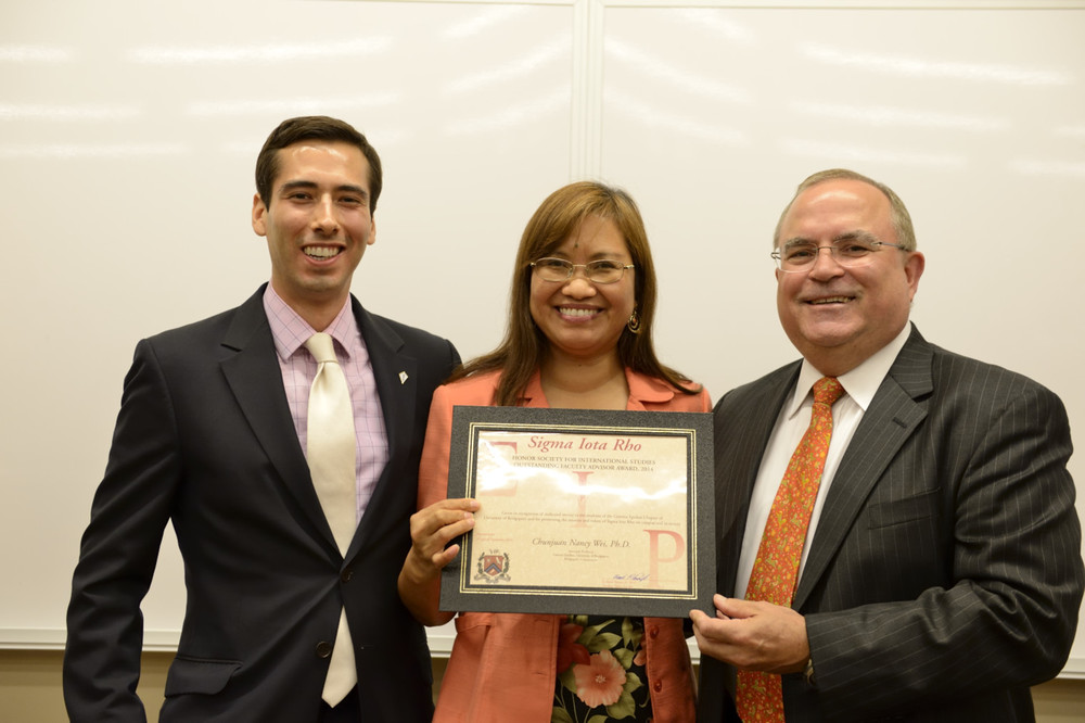 Nancy Wei (center) with Liaison Officer Mark Castillo (left) and Frank Plantan (right)