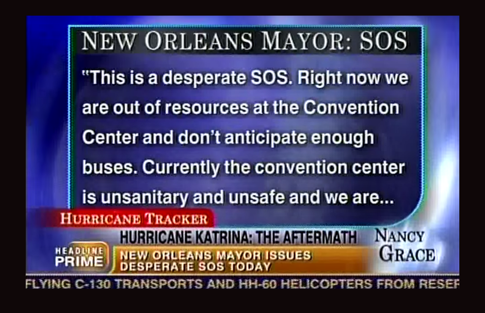 Mayor Nagin of New Orleans pleading for immediate aid and attention.