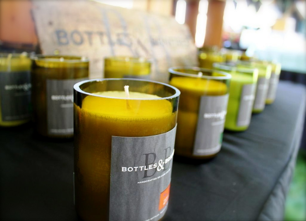 BOTTLES AND BONFIRE  - Candles, wine and bonfires.