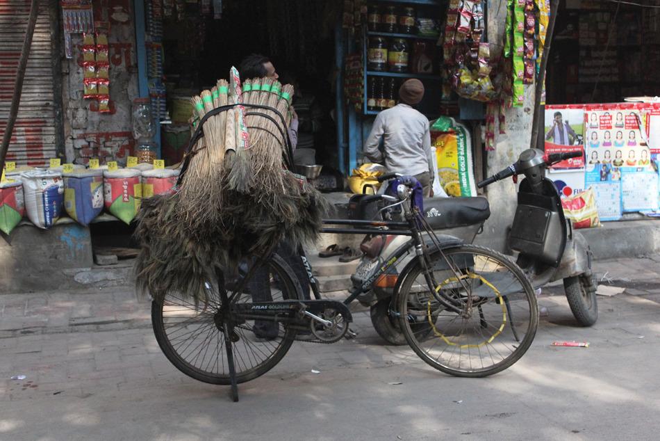 Broom Vendor Bicycle