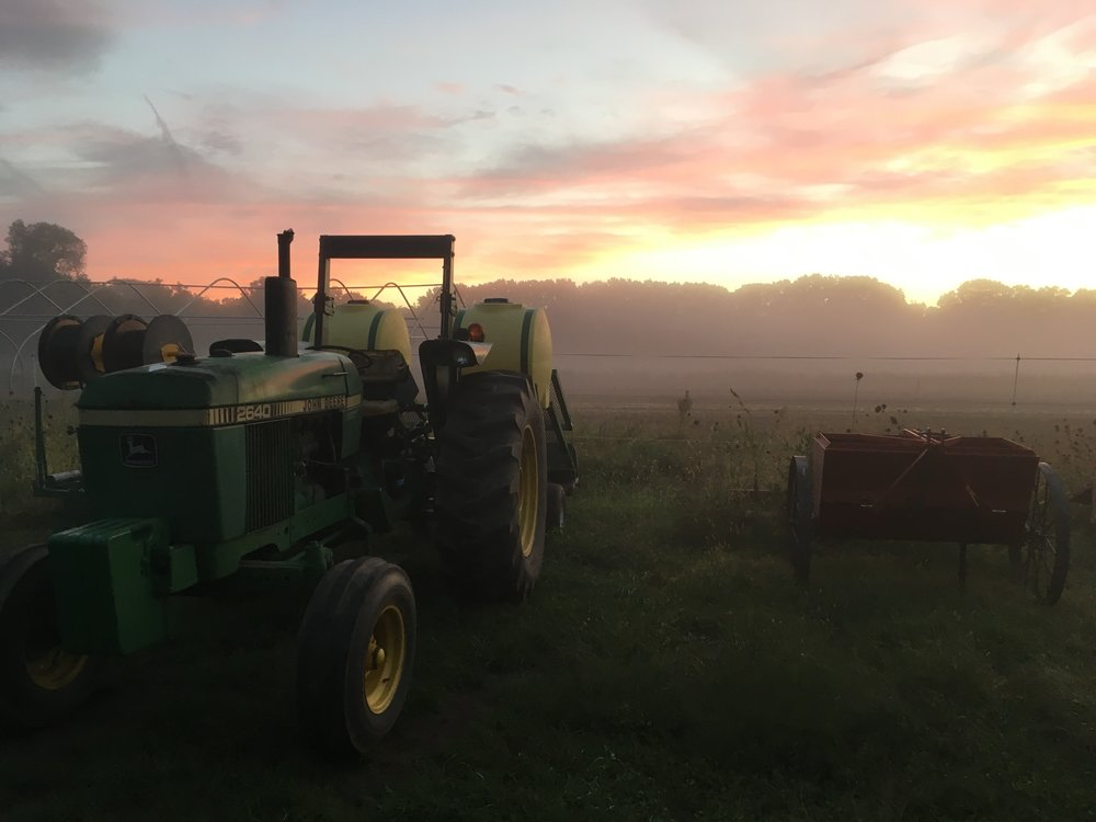 Fall on the farm is prime sunset photo season!