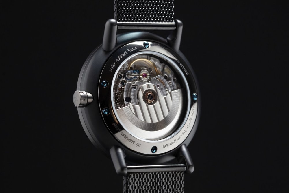 Swiss automatic movement - High Quality Swiss Made STP 1-13 (optional) automatic movement with 26 jewels. Standard model equipped with STP 1-11 movement.
