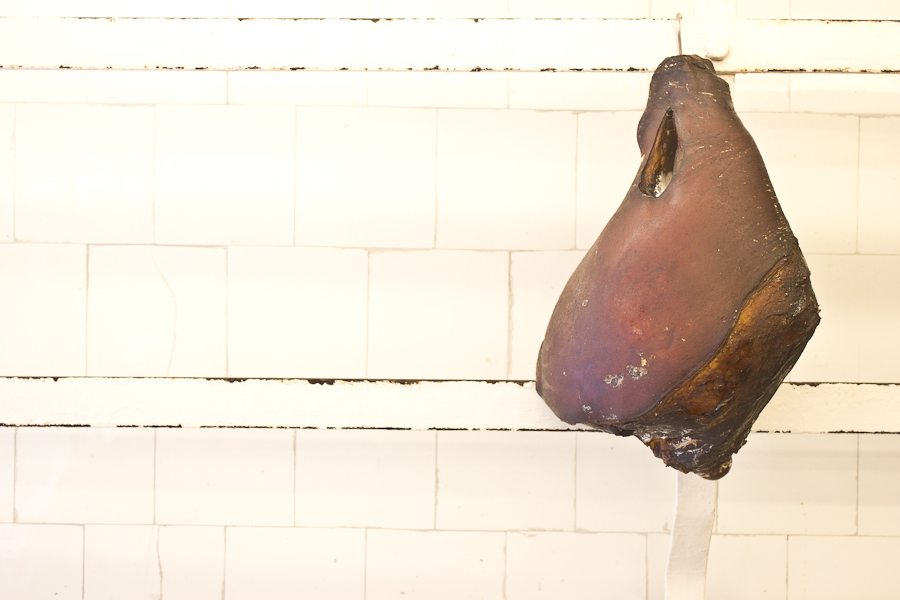 A triple-smoked ham at Bunting's butchers in Peckham