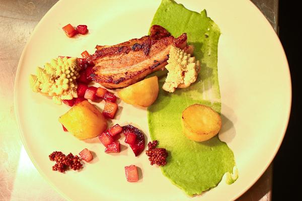 Pork, brassicas, carrots