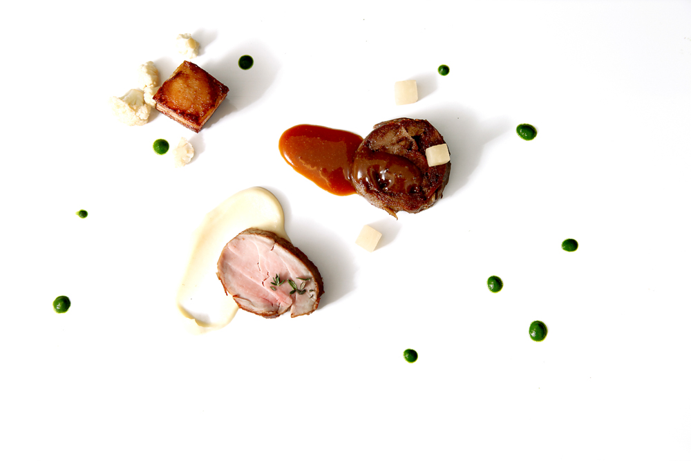 Pork, cauliflower, celeriac, turnip, cider