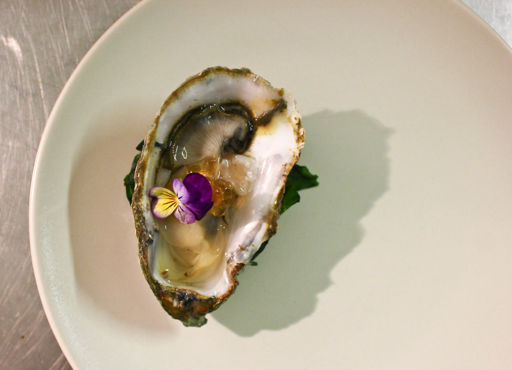 Oyster and moscatel pearls