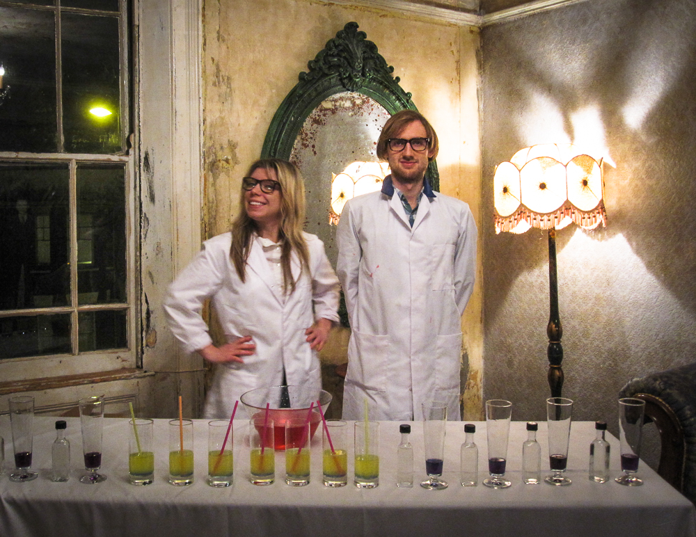 Brandy and Robin of Robin Collective with their Bizarregarita bar, London 2010