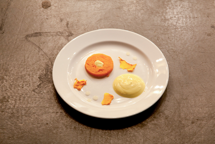 Roasted squash, saffron-infused yoghurt, lemon, London 2010