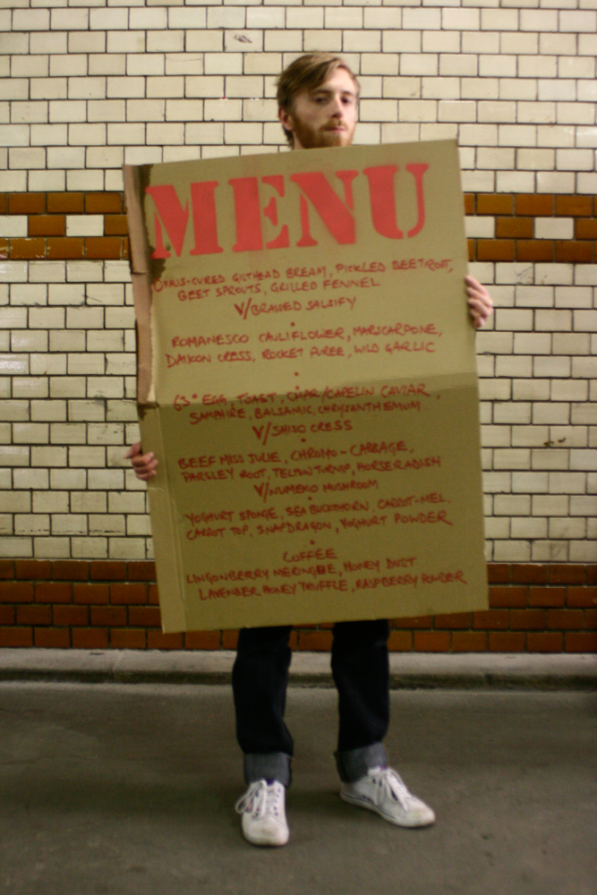 Mike with the menu, Berlin, 2011 (pic by B&S)