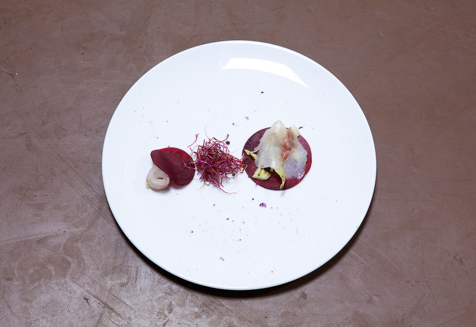 Bream, beets, amaranth, oxalis, Berlin 2011