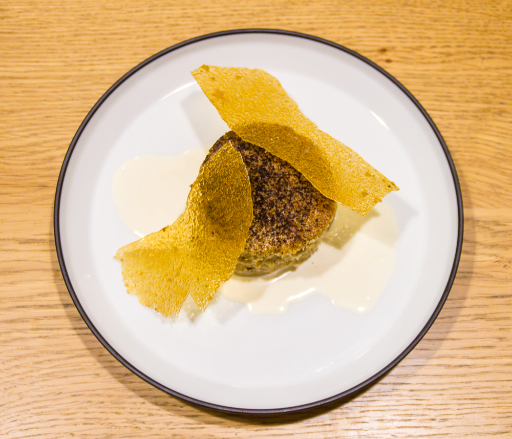 Barley cake, roasted malt, whisky barrel cream, honey