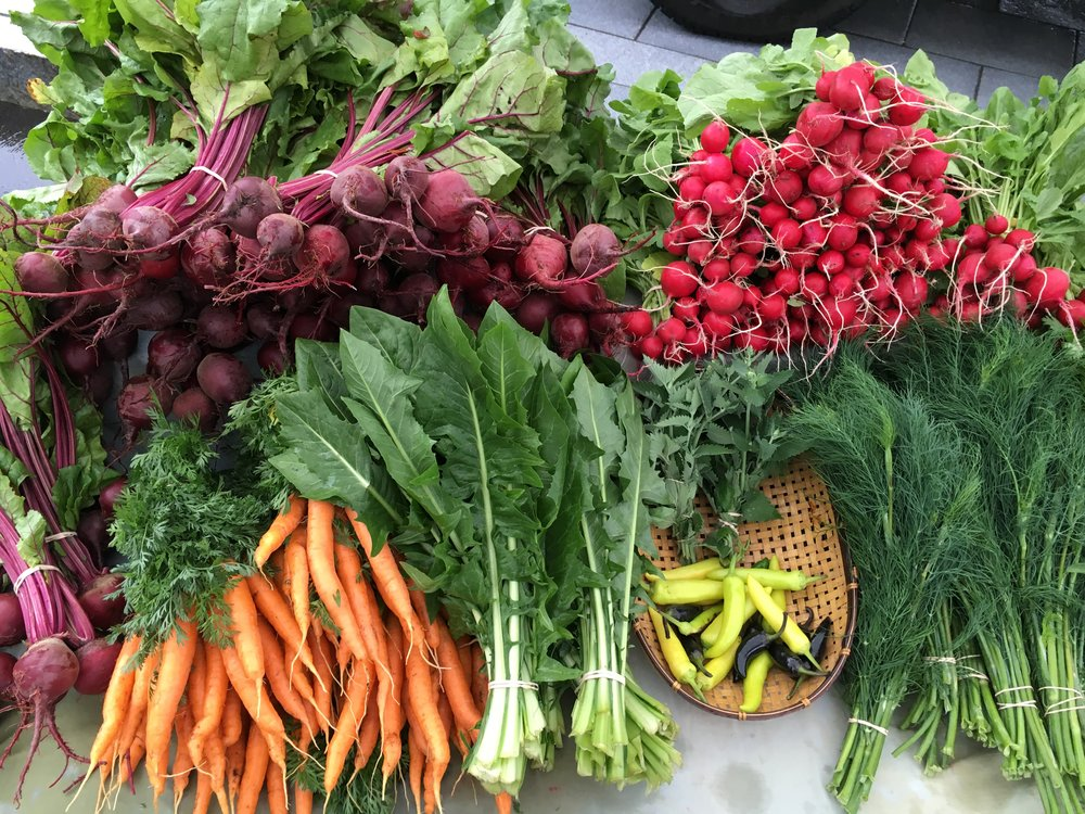 Certified-Organic Produce and Flowers -
