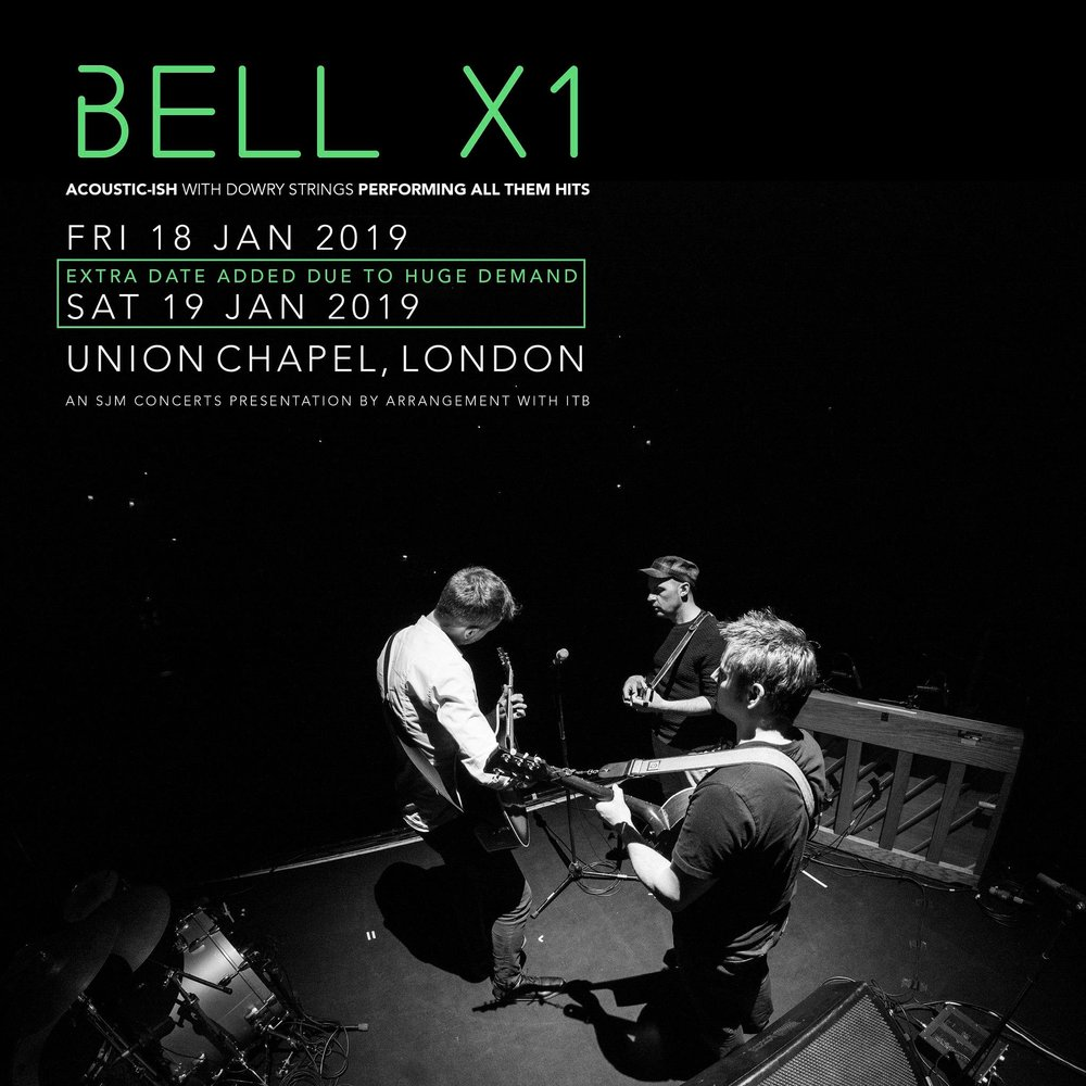 Bell X1 + Dowry Strings - Delighted to be accompanying Bell X1 for four shows (3 sold out) in the National Concert Hall and London's Union Chapel this autumn.