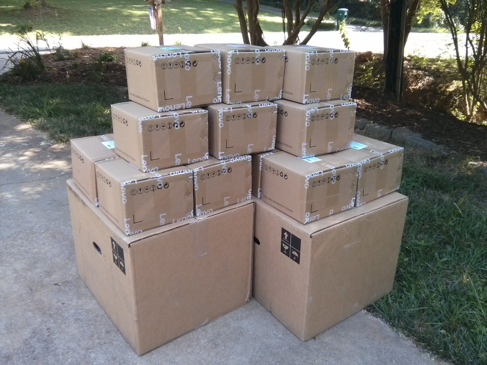 80 tablets prepped and ready for shipment to Addis Ababa.