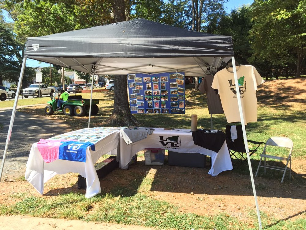 Nicaragua tent at the 2016 Truth Festival in Belmont, NC.