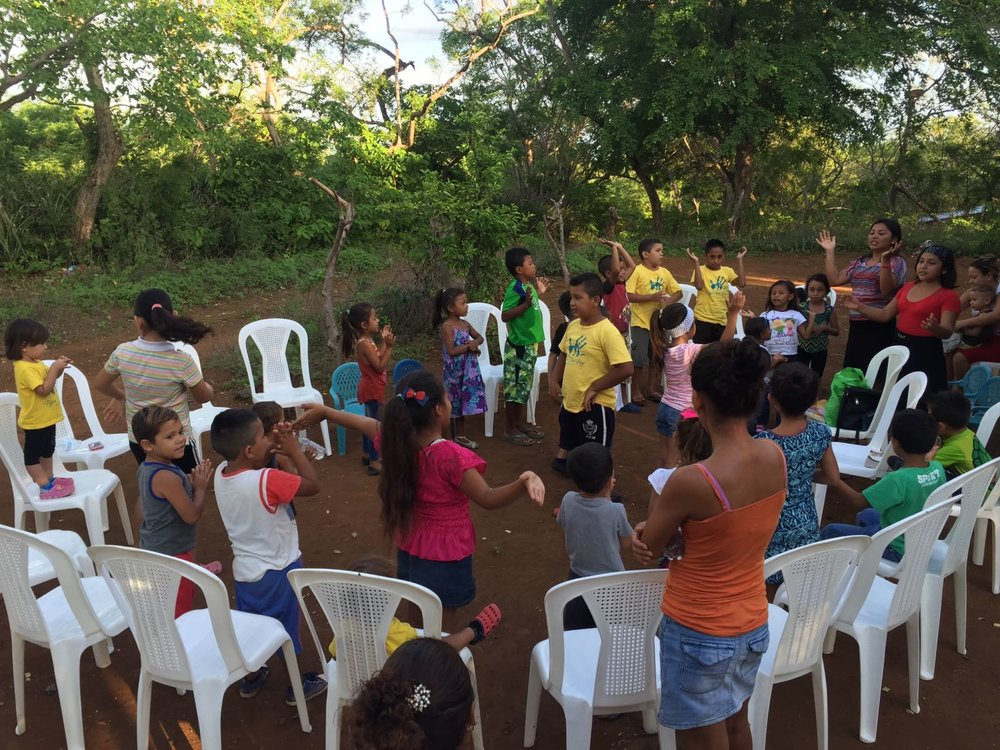 Sunday School class in Tepano