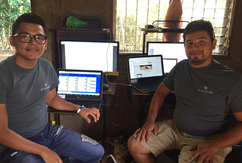 Junior and Jonatan working from their home office in Diriamba, Nicaragua.