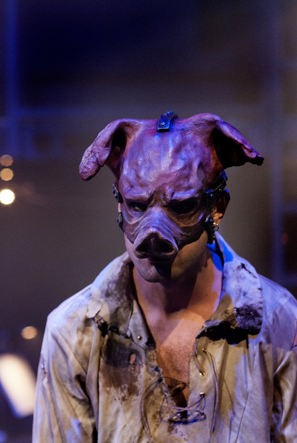 As Pig in The Enchanted Pig for Hampstead Garden Opera. November 2017.  Photo Credit Laurent Compagnon