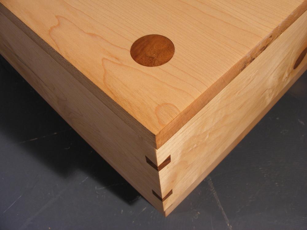 Walnut drawer pivot