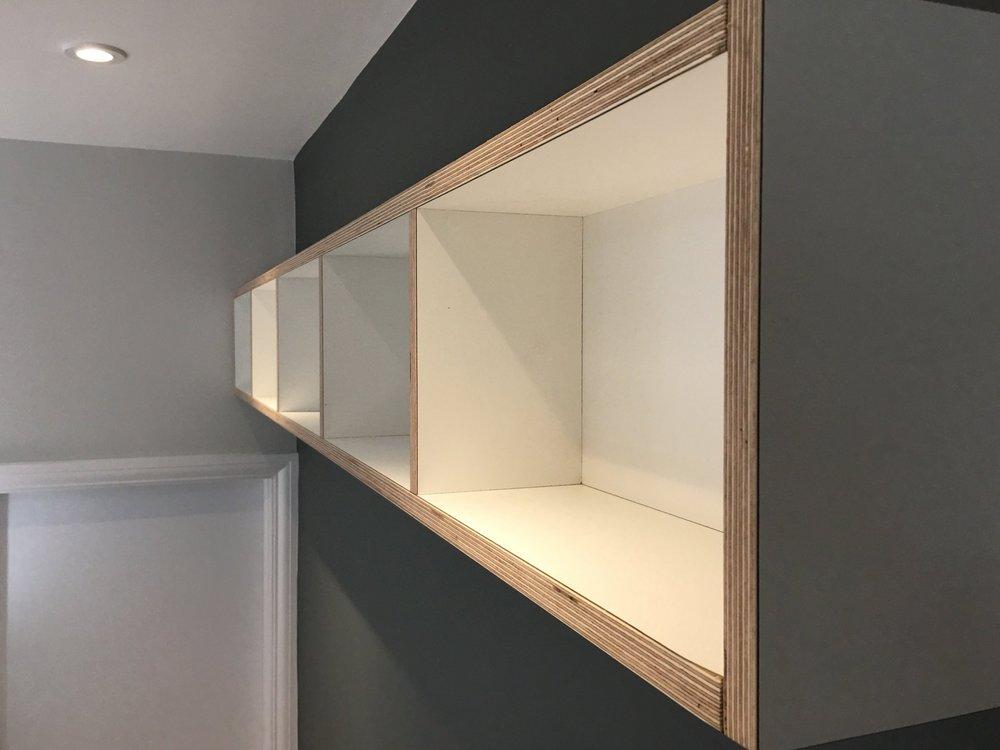 Birch Plywood Display Shelf