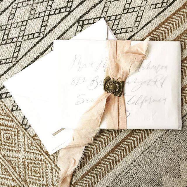 I've forgotten how much I love wax seals and silk ribbon! Ooh la la