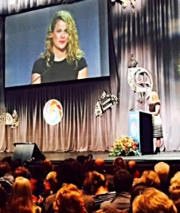 Co-Founder Katie Hoffman, discussing the importance of financial innovation to solve climate challenges at the 2015 National Bioneers Conference.