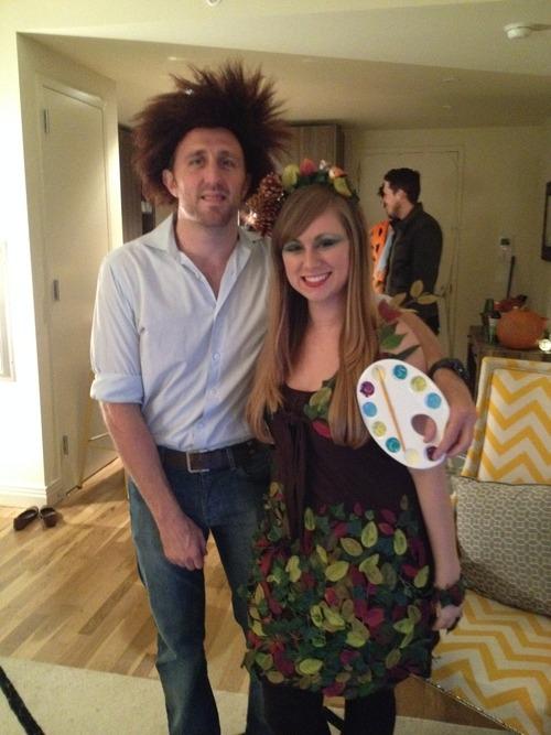 Diy Trick Or Treat Bob Ross A Happy Tree Costumes