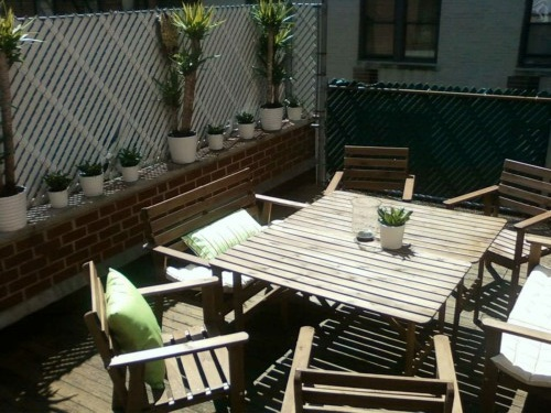 Manhattan is stingy on space and office space is no exception. Somehow we lucked out with a 700 sq. ft. deck off of our offices. You can bet that we are taking more than advantage of it today in the 80 degree sunshine<— Oh, you heard right west coasters! We just got some new plants, a BBQ, and a shipment of our client Stone Wolf Winery's wine, so I'd say we're set! It is days like this that I kind of miss having my car to cruise around in with the windows down and the music up. I suppose walking home through Central Park will have to suffice though. I know you guys feel really bad for me… haha. Cheers to sunshine!