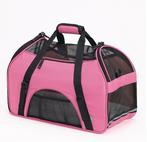 In about a week or so Scooter will be toting around in this cute pet carrier! I want to be able to bring him to the office for visits with my boss and her husband and I'm prepping for the sunshine when I can tote the little guy to Central Park. Yes, the little guy will be arriving in style in pink. Aren't dogs colorblind anyways though? I decided I'm the one carrying it around though so pink it is!