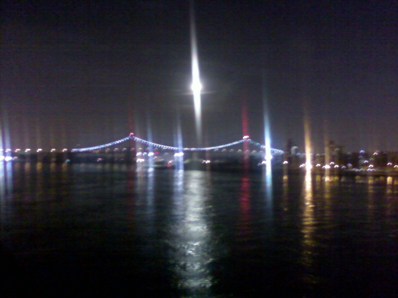 It may be a crummy cell phone photo, but I don't think I could ever get sick of seeing this view each night! The reflection of the city lights from the building and bridges on the water of the East River is gorgeous. Thanks to little Mr. Scooter we get to see it each night when we go on our nightly walk too!
