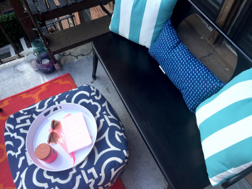 Anna Osgoodby Life + Design :: Bright & Colorful NYC Balcony -- Maximizing your Balcony Space
