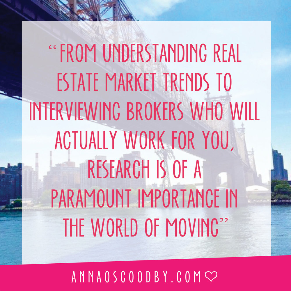 Anna Osgoodby NYC Living :: So You Want to Move to NYC :: Getting Started