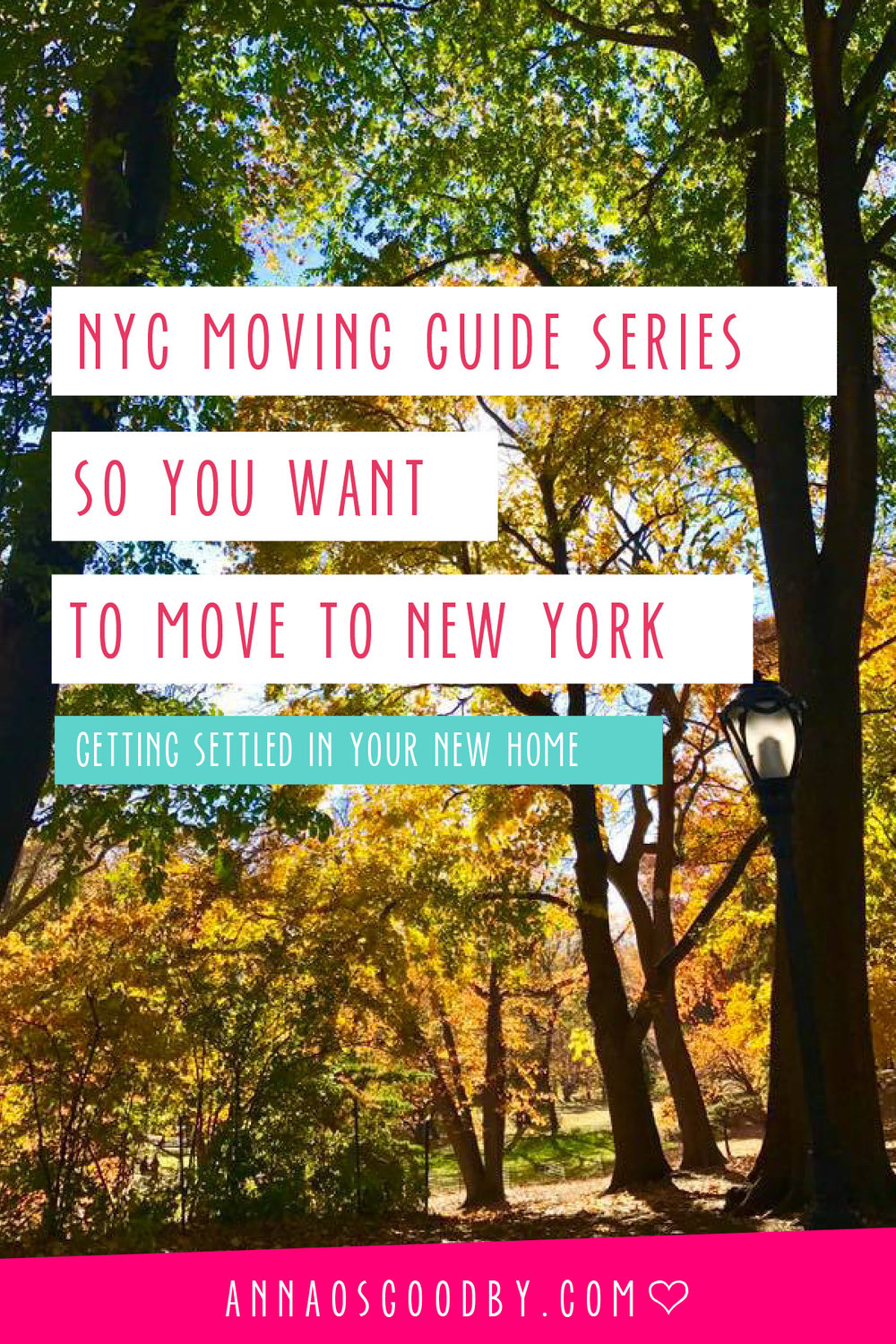 Anna Osgoodby NYC Living :: So You Want to Move to NYC :: Moving to New York City Guide -- Getting Settled
