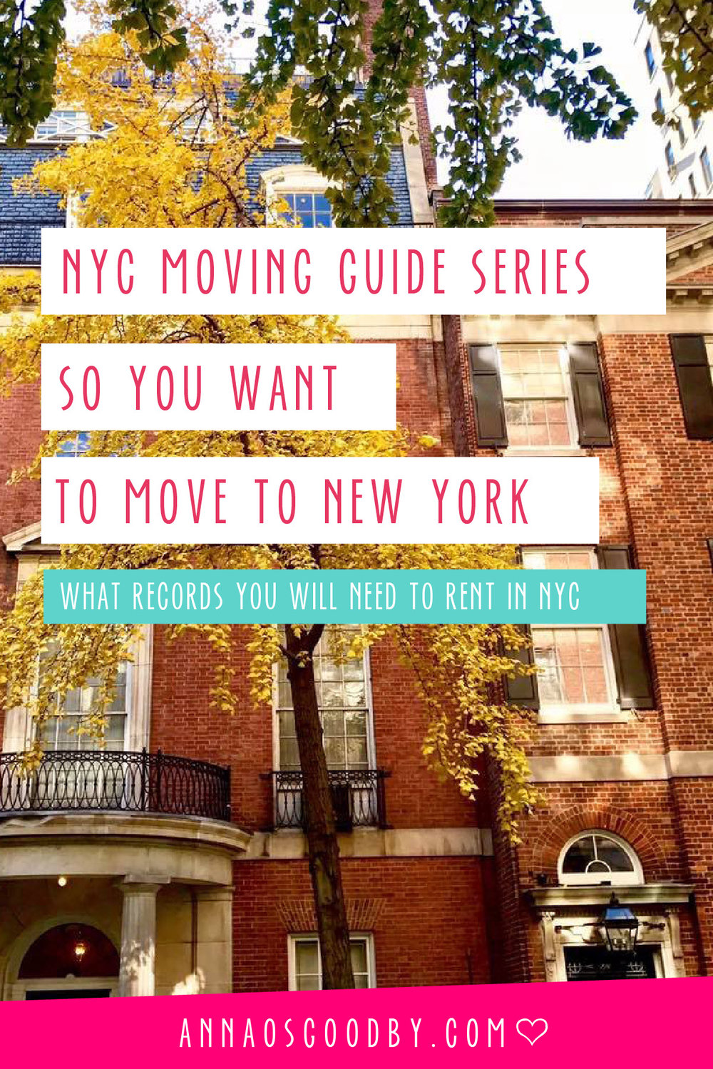 Anna Osgoodby Life + Design :: So You Want to Move to NYC :: What records and files you will need to rent in NYC