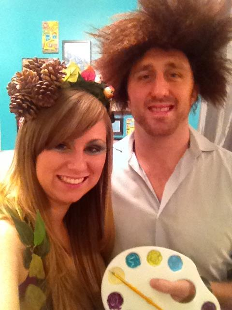 Anna Osgoodby Life + Design :: DIY Trick or Treat :: Bob Ross & a Happy Tree Costumes
