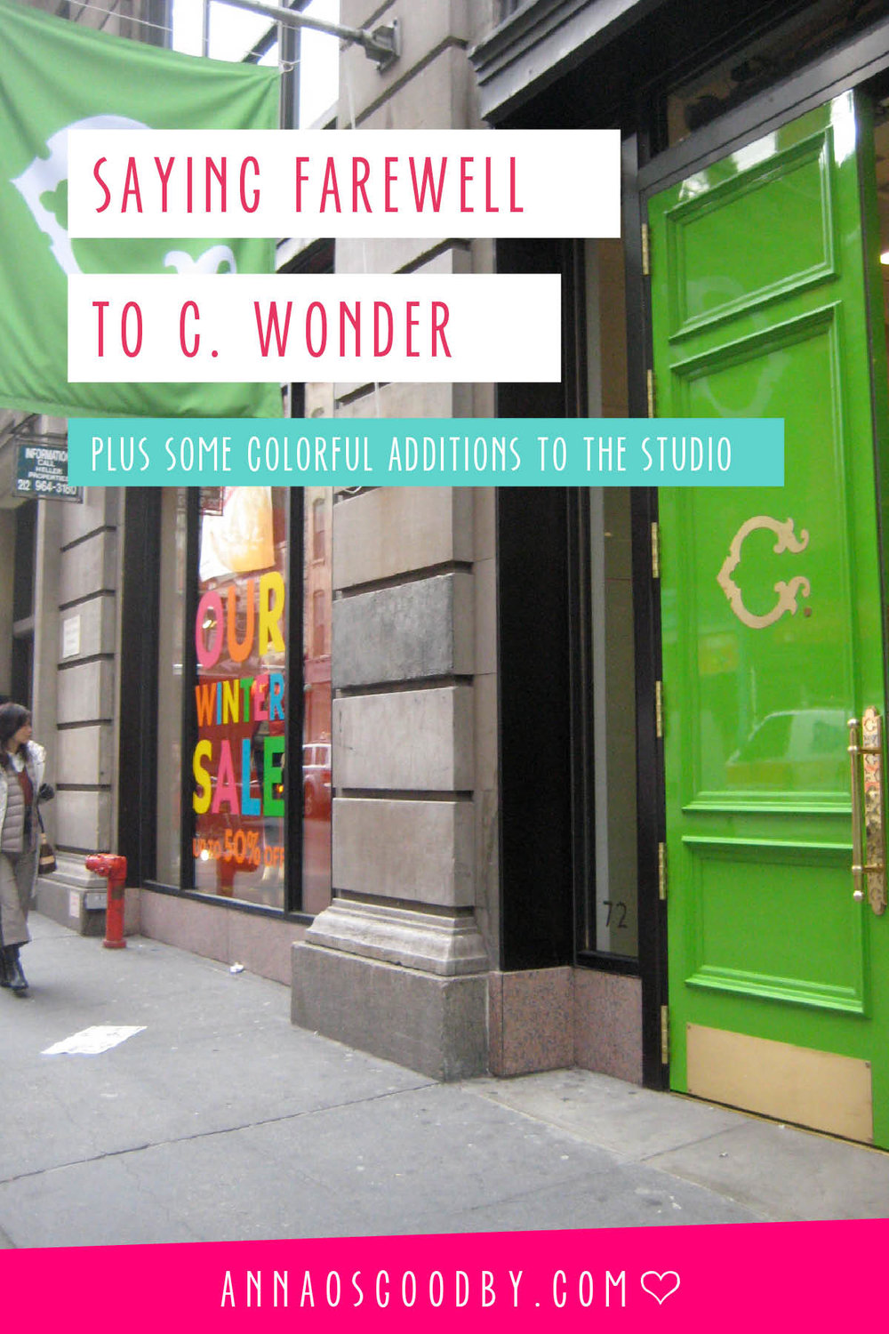 Anna Osgoodby Life + Design :: Saying Farewell to C. Wonder Plus Some Colorful Additions to the Studio